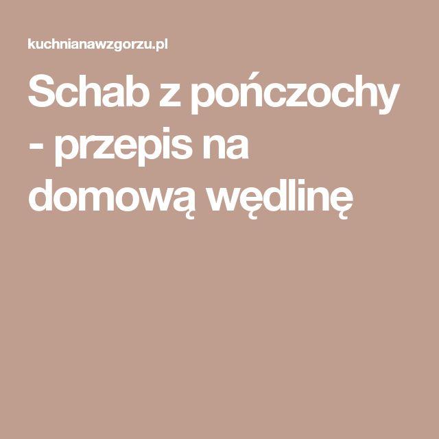Schab z pończochy - przepis na domową wędlinę