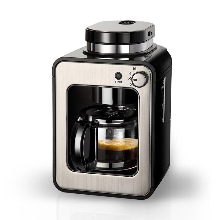 Small American Coffee Machine with grinding coffee beans function 1-4 Cups office home Coffee Maker