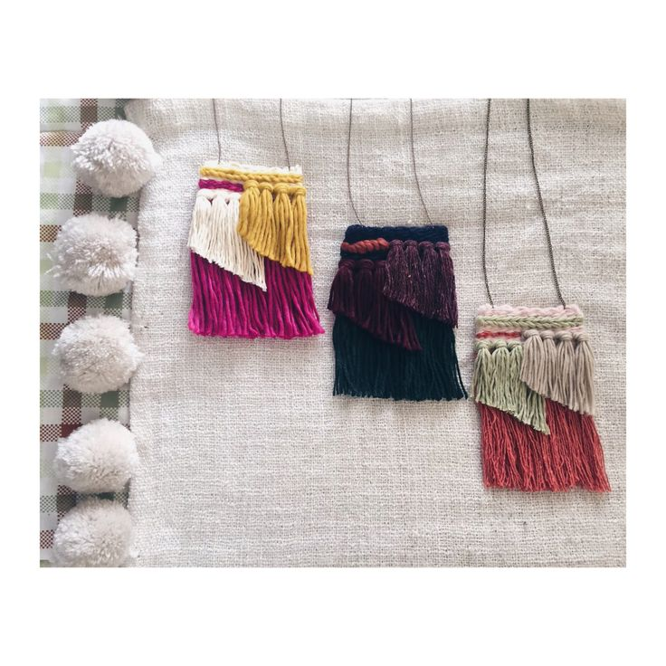 #wovennecklace #weaving #diy #handwoven #woven