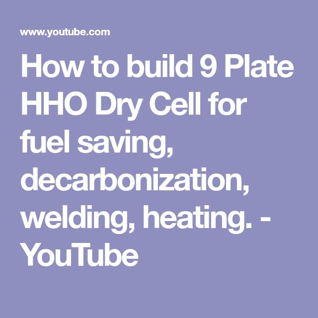 How to build 9 Plate HHO Dry Cell for fuel saving, decarbonization, welding, heating. - YouTube
