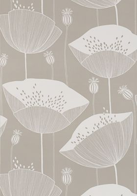 poppy mushroom wallpaper by missprint beautiful colour calming style for bedroom chimney breast
