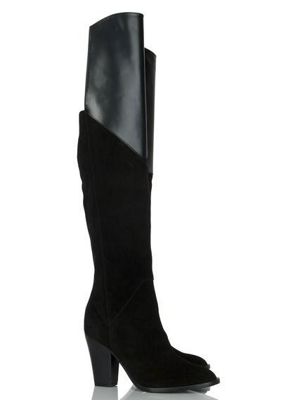 Cuissardes cuir Noir MAJE