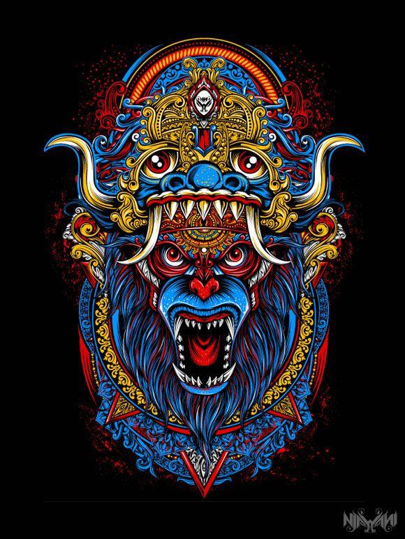 anoman barong on behance aztec art batik art art design anoman barong on behance aztec art