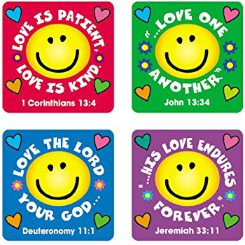 Amazon.com: Teacher Created Resources Jesus Loves You Stickers, Multi Color (7020): Office Products
