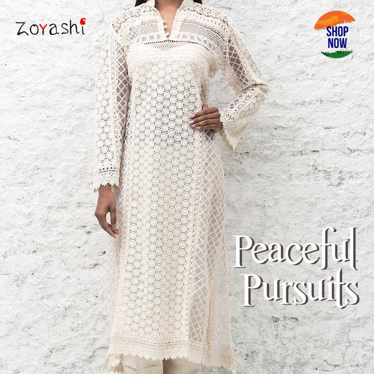 Dress up in white this Republic Day with Zoyashi!  #RepublicDay  #MadeInIndia #White #Kurta #ThisRepublicDay #HandmadeWithLove #IndianApparel #PeaceOut #EthnicWear