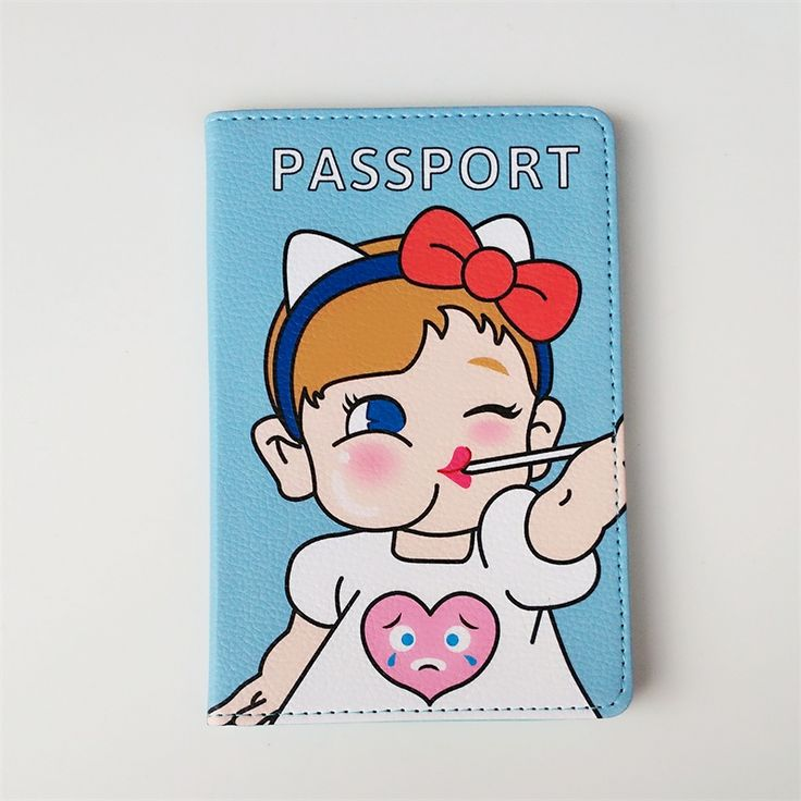 2017 Cutee Baby brand PU leather girl passport Holder on the passports covers for traveling,women card holder pen ticket holder