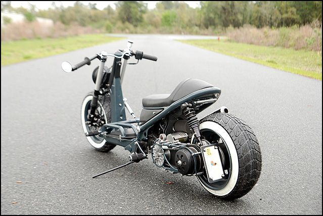 honda ruckus | The Honda Ruckus Cafe Risque Custom Scooter | ScooterFile