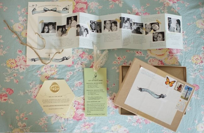 Cropped Relationship Timeline Invitation - Miss Pancake - Maria and Michael New Orleans Wedding - GWS