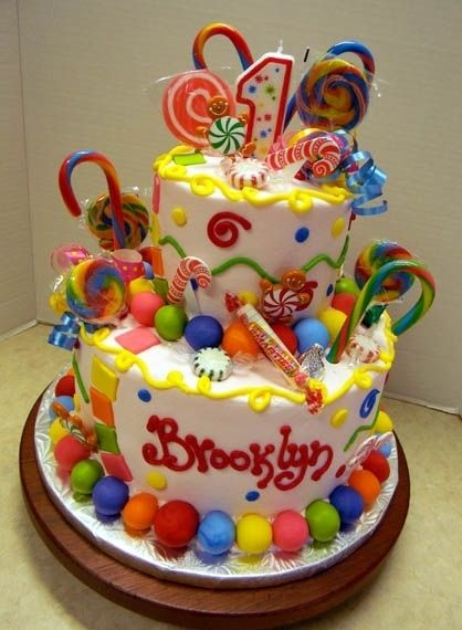 Candy Land Cake! This is awesome! How fun would this be for Brooke's first birthday!<3
