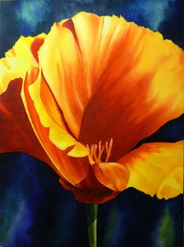 """California Poppy Study (Master Study)"" by Arena Shawn"
