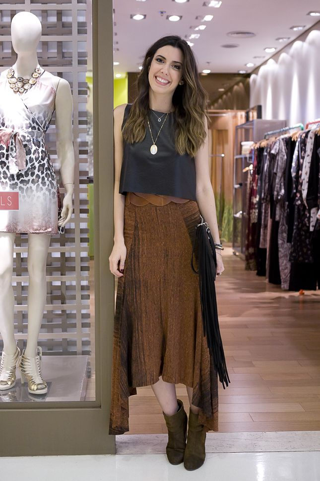 Redescobrindo a Lucy In The Sky… #fashion #skirt #leather