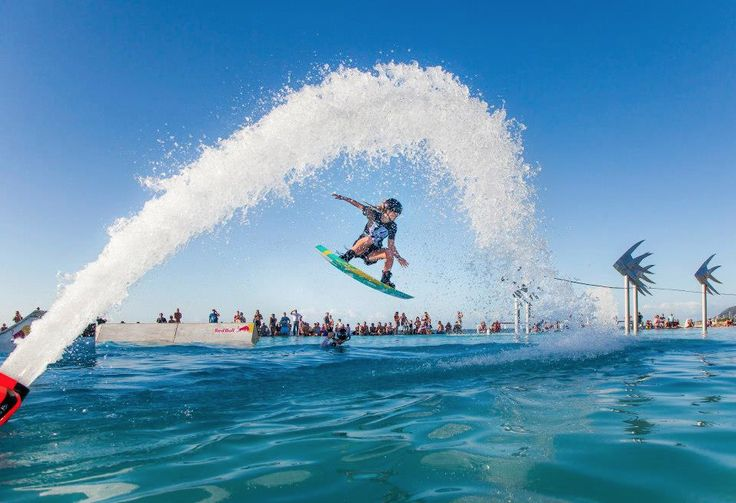 Awesome activities happening in Cairns, such as this Red Bull event at the Lagoon. Photo: Lovegreen Photography Cairns. #Cairns