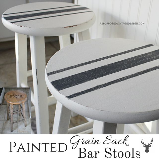 I saw a white bench with painted grain sack striping on Pinterest a while back and sooooooo wanted one. At the time I had just built my shutter bench, and didn't really need a new one, so I filed t...