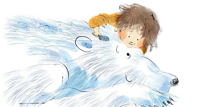 bear and child  Children's book illustration. Baby board  books Pen and ink children's book illustration