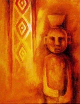 Chemamull -  Pintura de Eduardo Rapiman