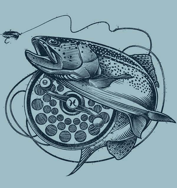 Rainbow trout illustration for H2Outdoors