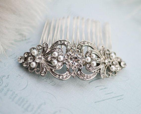 Vintage Style Bridal peigne de cheveux, cheveux de mariage Vintage peigne, peigne de mariage, accessoire de cheveux Vintage Wedding, mariage rustique - « Juliette »