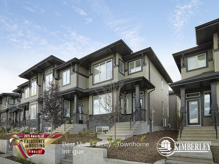 Intrigue luxury townhome in Larch Park. Kimberley Communities Awards of Excellence 215 Finalist. http://buildwithkimberley.ca/communities/the-gallery-at-larch-park/ #buildwithkimberley #kimberleyhomesYEG #awardsofexcellence #townhome