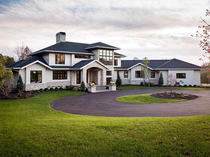 Contemporary-Modern Home Plan with 4983 Square Feet and 4 Bedrooms from Dream Home Source | House Plan Code DHSW077727