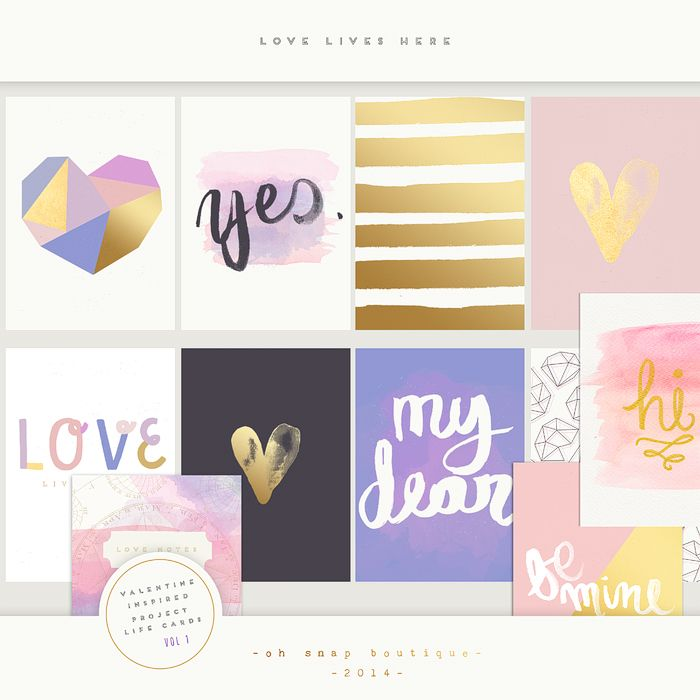 Project Life Love Lives Here Printable Cards Personal Use Only