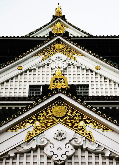 The detail of Japanese castle