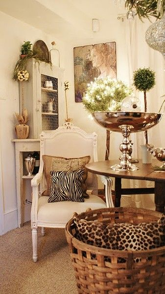 Vintage French Soul ~ Home With Leopard Decor ~. Find This Pin And More On  Decorating With Animal Prints ...