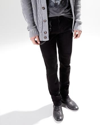Nathan modern slim fit jean in black - 34