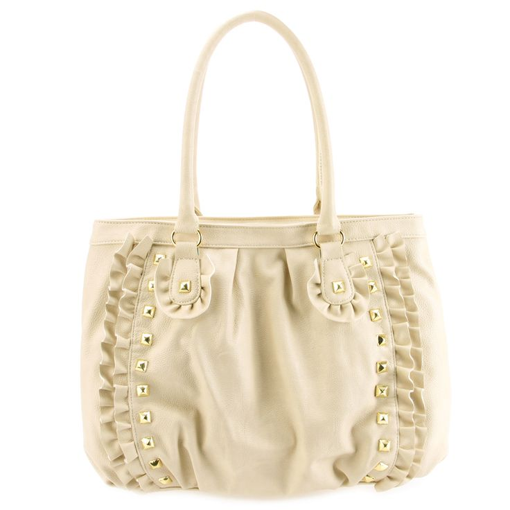 Betsey Johnson Frilled Out Tote-Bone - Fashion