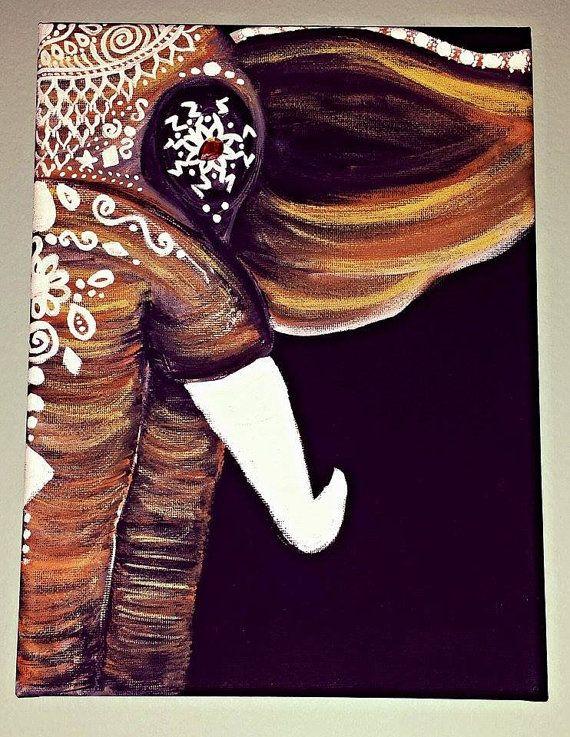 Sun Kissed Bohemian Elephant by GypsyTwistArt on Etsy