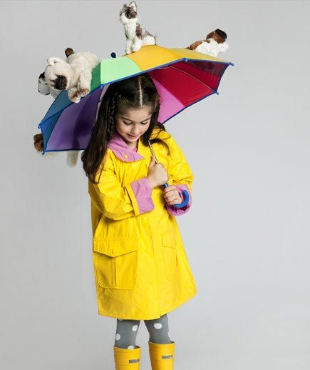 Raining Cats and Dogs costume:  All you need is an old umbrella and a hot glue gun to attach the toys (What You Need  Umbrella  Stuffed animals  Hot glue gun    1. Open up the umbrella and hot glue one animal at a time on the outside. Let them rest in place to dry overnight. ). Now just wait for the compliments to rain down.