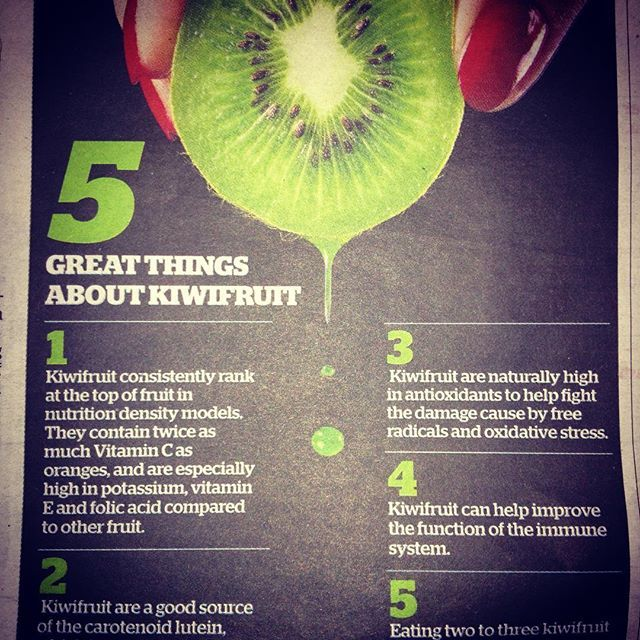 Spotted this in the NZ Herald yesterday - 5 great things about kiwifruit