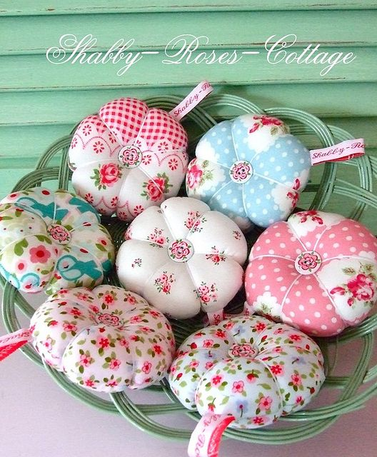 New pincushions... by *ShabbyRosesCottage*, via Flickr