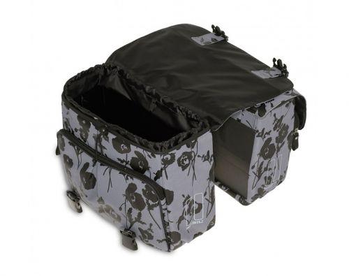 Sakwa Basil Elegance Double Bag czarne kwiaty www.narowery.pl