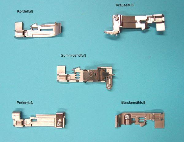 Füßchenset Overlock für Pfaff Coverlock 3.0+4.0 (5er Pack) | Nähwelt Flach