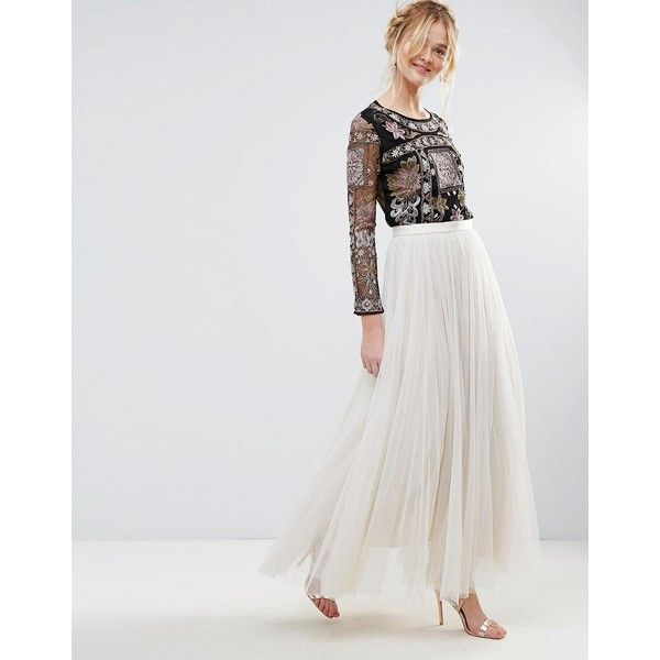 Rd & Koko Pleated Maxi Skirt ($63) ❤ liked on Polyvore featuring skirts, pink, high waisted long skirts, pink chiffon maxi skirt, long chiffon skirt, long pleated skirt and high waisted maxi skirt