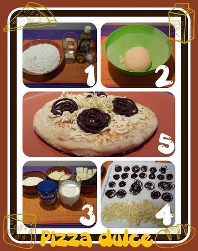 pizza de chocolate blanco