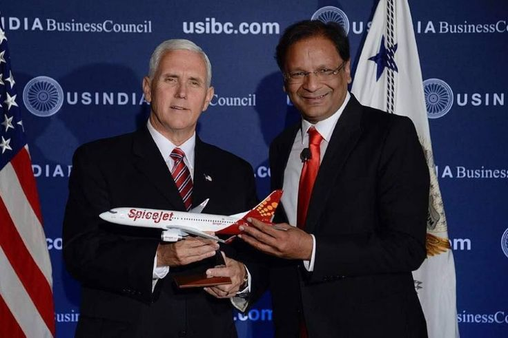 Interview: SpiceJet Founder Rescued an Airline and Has Big Ambitions for Indian Aviation  Founder Ajay Singh (right) presented a SpiceJet Boeing 737 model in June 2017 to U.S. Vice President Mike Pence to celebrate the airline's big deal with the American manufacturer. Earlier President Trump had mentioned SpiceJet's large Boeing order to the press while meeting with Indian Prime Minister Narendra Modi. SpiceJet  Skift Take: Unless you're obsessed with aviation you probably don't know…