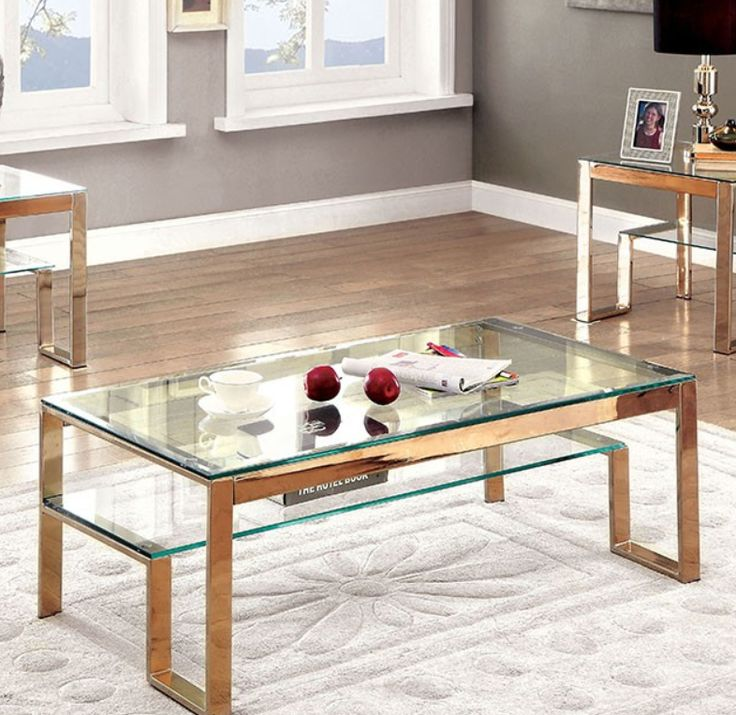silver glass living room furniture%0A Explore the Furniture of America CM     Step Inspired Glass Coffee Table u