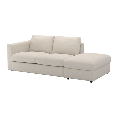 VIMLE Sofa - with open end/Gunnared beige - IKEA