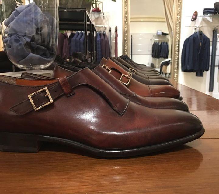 Perfect single monks by @santoniofficial  #santoni #shoes #monks #canali #corneliani #kiton #pochette #leather #bespoke #goodyearwelted #atelier