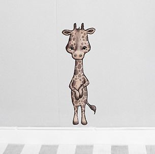 Jax the Giraffe sticker  Removable nursery wall stickers  www.peppapenny.com  Shop 3, 1642 Anzac Ave  North Lakes, QLD 4509