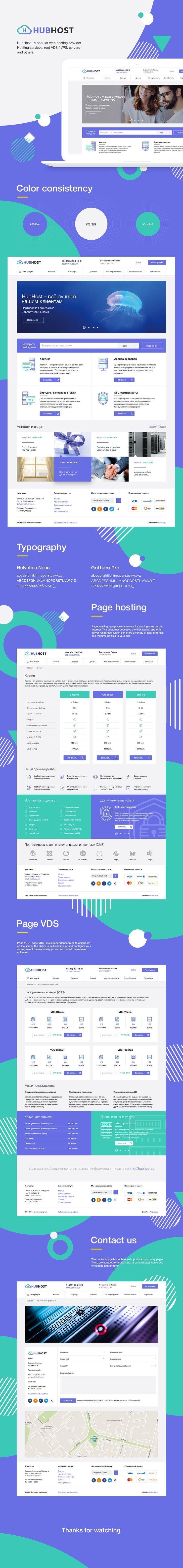 HubHost Website Design