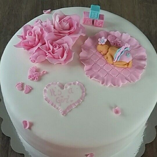 Babyshower cake. Girl.