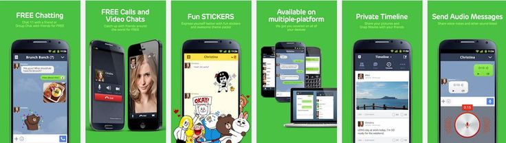 Now enjoy stickers with Line App
