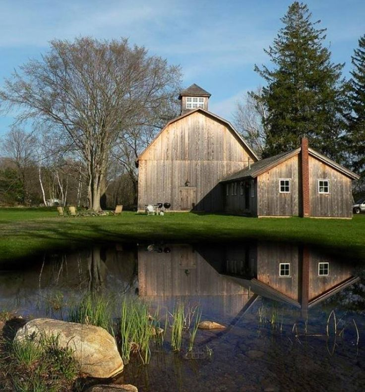 FARMHOUSE – BARN – vintage early american barn commonly used for storing farm equipment, storage of harvested crops, or providing shelter for livestock, peaceful living.