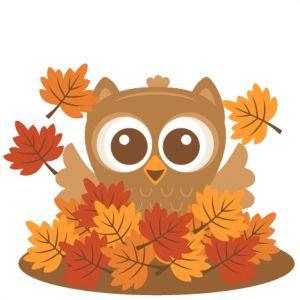 owl in leaves miss kate cuttables svg scrapbook cut file cute