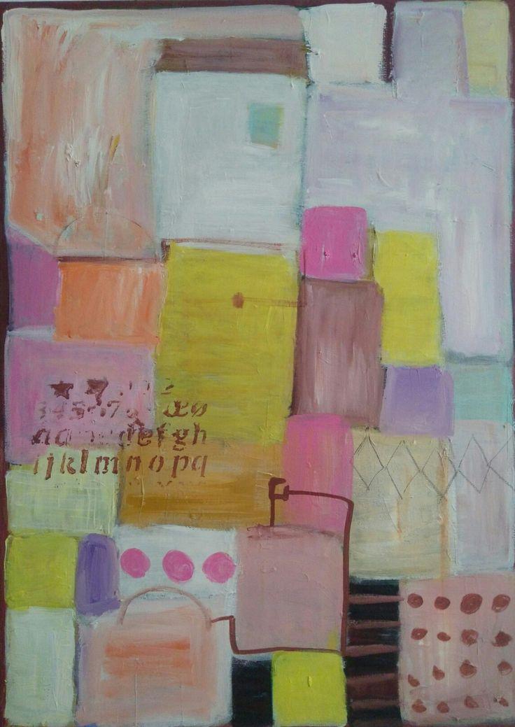 #kobus#malgorzata#abstract#painting#candy city#acrylic#sweetcolours #pastel