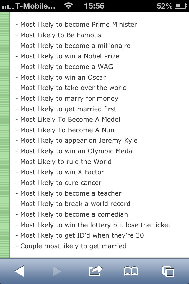 For school yearbook: love nun, jeremy kyle and the lottery!