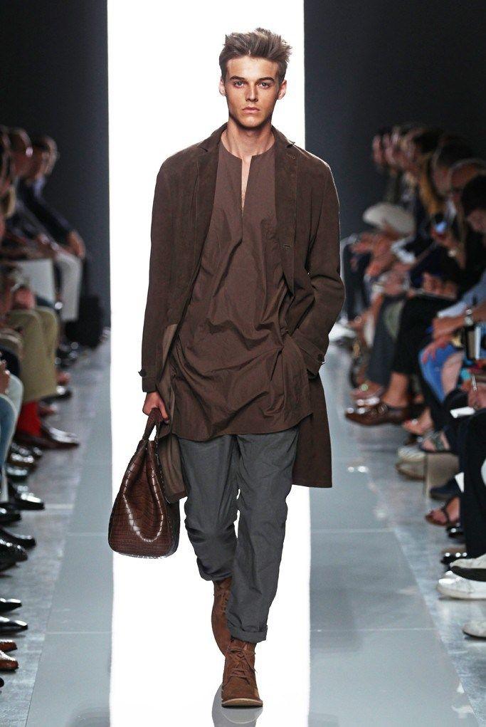 NOTE : layers, long tunic    Bottega Veneta Mens RTW Spring 2013