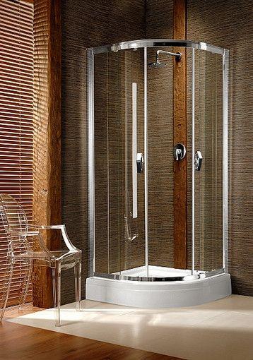 Afrodyta Design Radaway kabina półokrągła 90x90x195 chrom przejrzysta - 30102-01-01